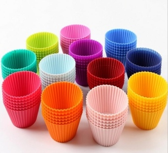 Harga 24 pcs Cake Cup Silicone Cupcake Cases Cake Decorating Tools