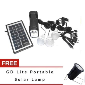 Harga GD Lite Solar Emergency Lighting Kit with FREE Solar Lamp