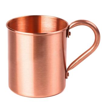 Harga Fashion Pure Copper Cup 415ml Mug for Chilled Beer Iced Coffee Tea Vodka Gin Rum Tequila Whiskey Mixed Drinks - intl