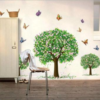 MD2 3D Family Big Tree with Assorted Butterflies Removable Wall Sticker Wallpaper Home Decor Decal Art Price Philippines