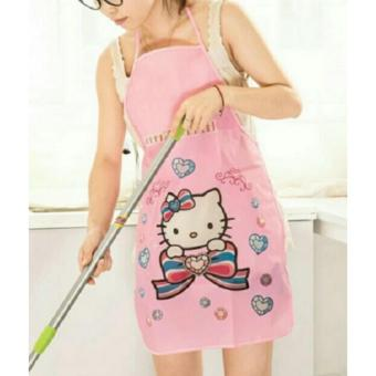 Harga Cute Cartoon Waterproof Apron Kitchen Accessories House Cleaning House Keeping Anti Dust Apron 25g