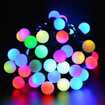 Harga Mabuhay Star LED Ball String Lights with Flashing 16ft 50 LEDs, Color Changing Globe String Light for Holiday Christmas New Year Wedding Gardens Lawns Patios Indoor & Outdoor Decoration