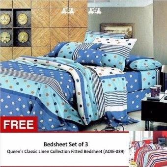 Harga Queen Classic Linen Collection Bedsheet Set of 3 (AOIE-037)Queen with Free Queen Classic Linen Collection Bedsheet Set of 3 (AOIE-039)Queen