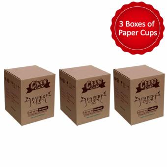 Harga PC3 - 3 Boxes of Chong Cafe Paper Cups (6.5 oz)