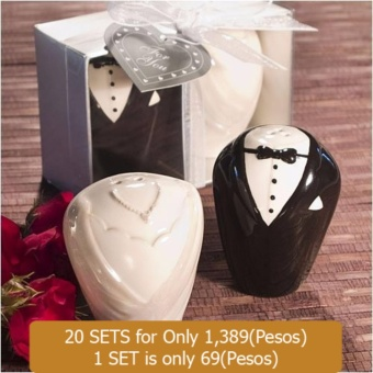 20sets Wedding Souvenirs Ceramic Bride and Groom Salt and Pepper Shaker Event & Party Supplies Price Philippines