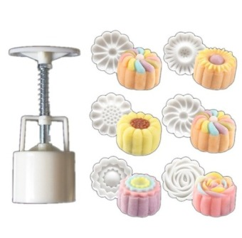 Harga 3D Moon Cake Mold Hand 50g Hand Pressing Mid Autumn Three-dimensional Arch Moon Cake Molds