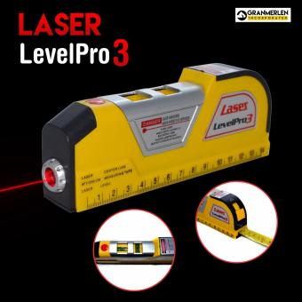 Harga Laser Level Pro 3 with Tape Measure Perfect Construction Buddy
