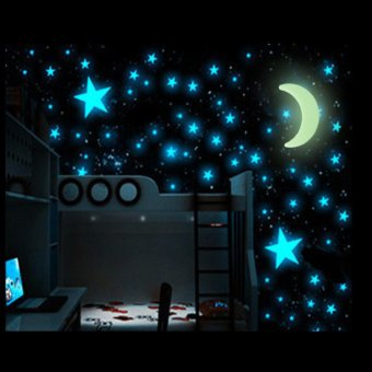 200PCS Glow in the Dark Star Home Kids Baby Rooms Wall Stickers Decal - intl Price Philippines