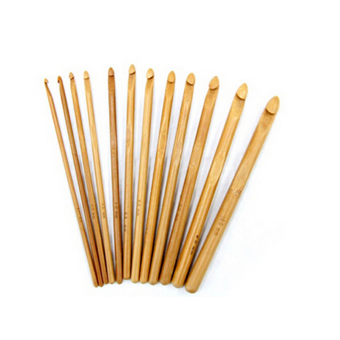 Harga Jetting Buy Bamboo Crochet Hooks Knitting Needles 3-10mm 12pcs Bamboo