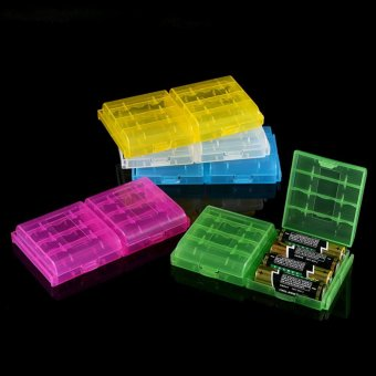 5 Colors Multifunctional Transparent Hard Plastic Case Holder Storage Box For AA AAA Battery - intl Price Philippines