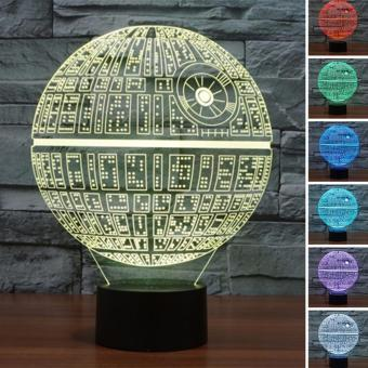 Runda Century 3D Star-Wars LED Night 7 Color Change Touch Switch Table Desk Lamp Light - intl Price Philippines