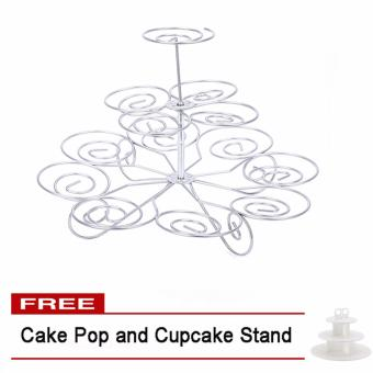 Harga 3-Layer Cupcake Stand Free Cake Pop and Cupcake Stand