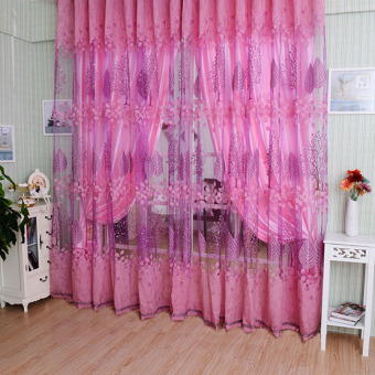 HDL Luxurious Upscale Jacquard Yarn Curtains Pink Price Philippines