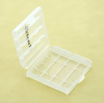 5pcs Plastic Case Holder Storage Box for AA AAA Battery(White) - intl Price Philippines