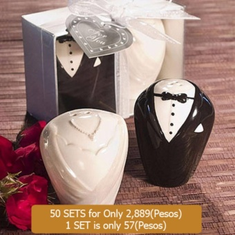 50sets Wedding Souvenirs Ceramic Bride and Groom Salt and Pepper Shaker Event & Party Supplies Price Philippines