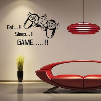 Harga Eat Sleep Game Letters Game Controller Vinyl Wall Stickers - intl