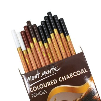 Harga Mont Marte 12 Earthy-Colours Charcoal Pencils