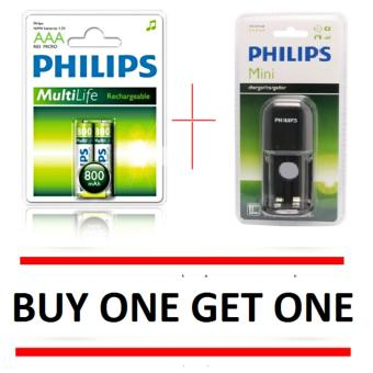 PHILIPS rechargeable charger/cargador SCB1411NB/97 with AAA philips batteries Price Philippines