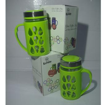 Fashionable Mug with Plastic Protector Green Set of 2 Price Philippines
