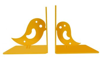 Harga Lufata Bird Book Ends Sheet Metal,Beautifully Crafted BookEnds (Yellow)
