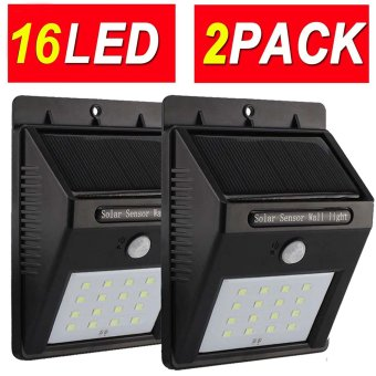 Harga 16LED 2PACK Upgraded Super Bright YuanYi Solar Motion Sensoe Light Weatherproof Solar Lights Outdoor Wireless Solar Motion Security Light Solar Motion Activated Security Light Metal Detector - intl