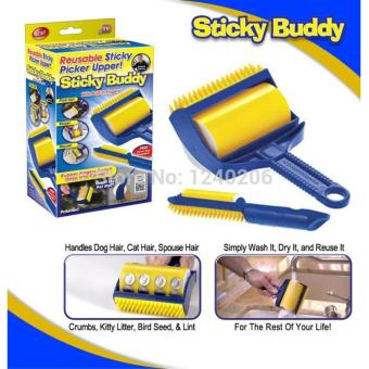 Harga Sticky Buddy Hair Lint Dust Remover (Blue/Yellow)
