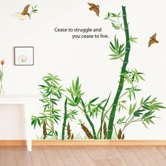 Harga Removable Bamboo Wall Sticker Home Decor Art Decoration Mural Decal Vinyl Bamboo - intl
