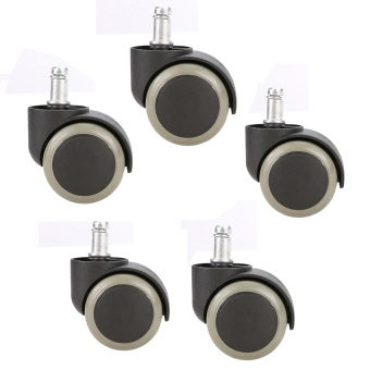 Best Seller 5PCS Office Chair Soft Rubber Caster Wheel Swivel Replacement Black Price Philippines