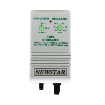 Harga Newstar NA-1500RS I.C. Regulated Multiple AC/DC Adaptor 1500mA Max