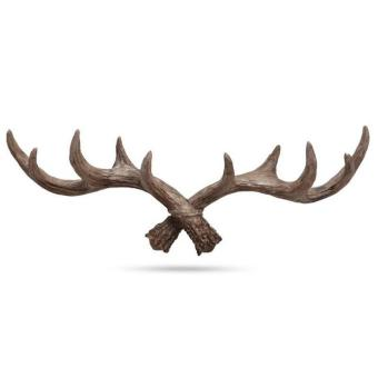 Resin Coat & Hat Clothes Wall Hooks Hangers Antlers Designs Durable Towel Wall Hanging Decoration for Home & Pub Hotel 48.5x7.5x17cm - intl Price Philippines