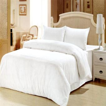 Harga Beverly's Linen Collection Duvet Cover-White King