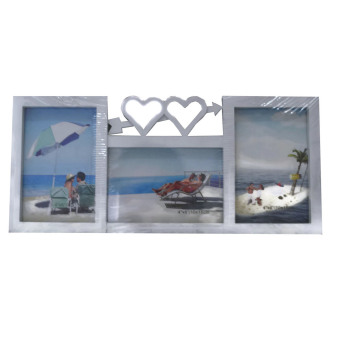Harga Two Hearts Picture Frame with 3 Collage Frame (White)