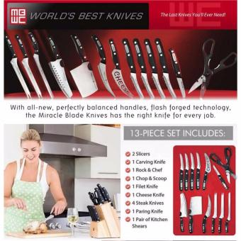 Harga ZMB Miracle Blade World Class Complete 13-Piece Knife Set