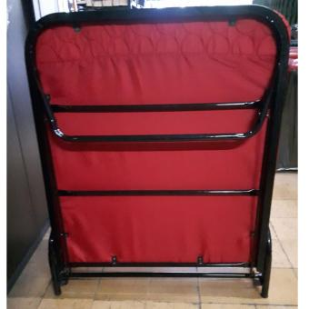 Harga Folding Bed With Mattress (Red)