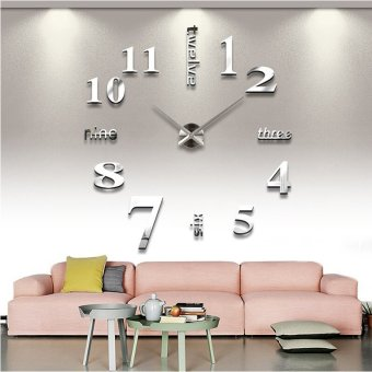 3D Diy Modern Home Decoration Wall Clock - INTL Price Philippines
