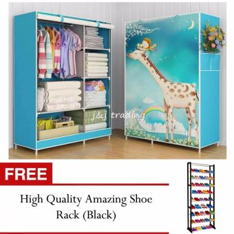 GMY Quality Fashion 3D Panoramic View Simple Wardrobe (Giraffe) with FREE High Quality Amazing Shoerack (Black) Price Philippines