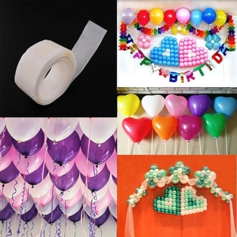4ever 4rolls/400dots Removable Balloon Glue Wedding Birthday Decor Attachment Foil Balloons Party Supplies - intl Price Philippines