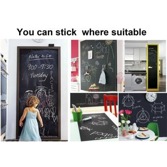 Vinyl Chalkboard Wall Stickers Removable Blackboard Decals Great Gift for Kids 45CMx200CM - intl Price Philippines