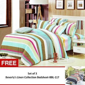 Harga Beverly's Linen Collection Bedsheet Set of 3 (BBL-82) with Free Beverly's Linen Collection Bedsheet (BBL-117)