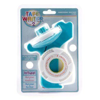 Harga Motex Label Maker E-202 Tape Writer Embossing Machine (Blue Green/White)