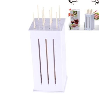 Convenient Plastic 16 Holes Barbecue Skewer Kebab Maker With 30 PCS Bamboo Sticks - intl Price Philippines
