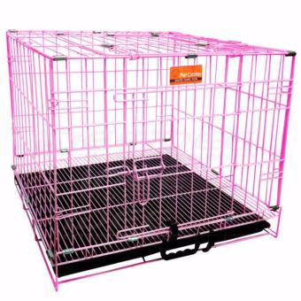 Pet Crates EL-1.5 Foldable Dog Cage w/ Plastic tray (Pink) Price Philippines
