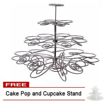 Harga 4-Layer Cupcake Stand Free Cake Pop and Cupcake Stand
