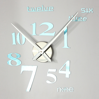 3D DIY Wall Art Clock Home Modern Decoration Mirror Living Room Home Large Price Philippines