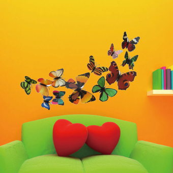 12PCS 3D PVC Magnet Butterflies DIY Wall Sticker Home Decor Price Philippines