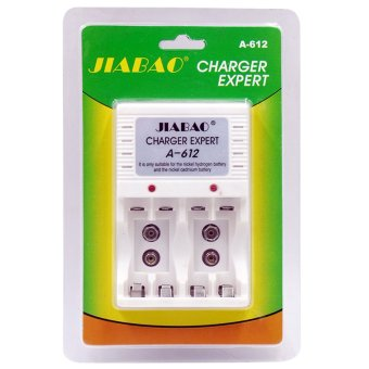 Harga JIABAO A-612 White Digital Power Charger For Rechargeable Batteries