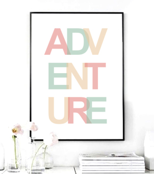Adventure Quote Canvas Art Print Painting Poster, Wall Pictures for Home Decoration, Home Decor YE128 (Intl) Price Philippines