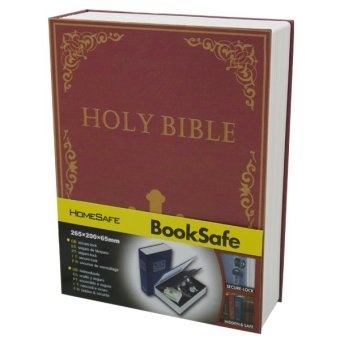 Holy Bible Safety Box with Key Lock Book Safe (Maroon) Price Philippines