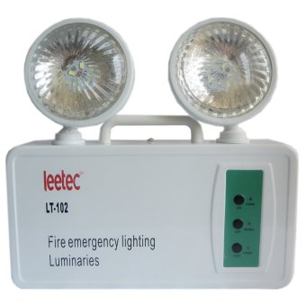 Harga Leetec LT-102 2x1.5W Rechargeable Emergency Light (White)