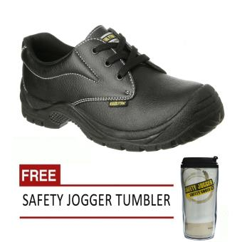 Safety Jogger Safetyrun S1P Low Cut Men Safety Shoes Footwear Steel Toe (Black) with Free Safety Jogger Tumbler Price Philippines